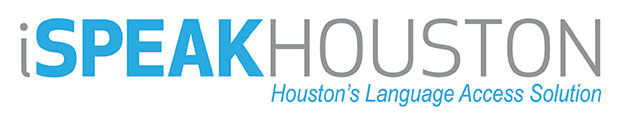 iSpeak Houston logo.